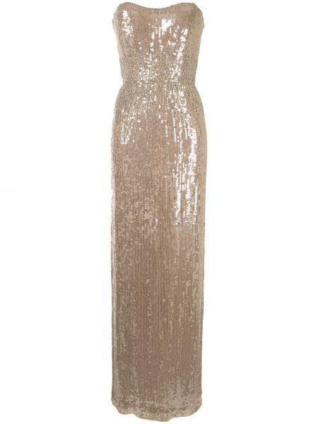 Платье макси с пайетками квадратное с вырезом Jenny Packham