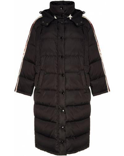 Пальто с капюшоном оверсайз на кнопках Gucci