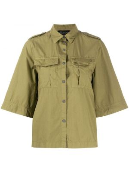 Рубашка с коротким рукавом - зеленая Mr & Mrs Italy