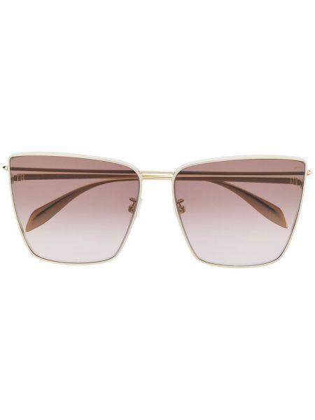 Желтые солнцезащитные очки квадратные металлические Alexander Mcqueen
