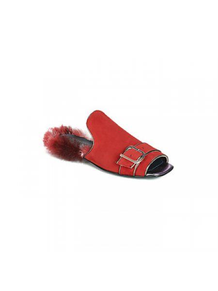 Czerwone klapki Papucei