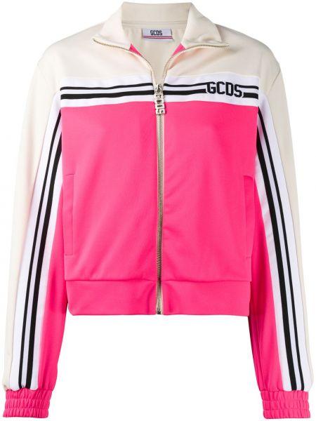 Хлопковая спортивная куртка на молнии с воротником Gcds