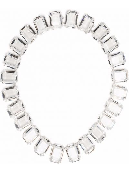 Серебряное ожерелье металлическое Swarovski