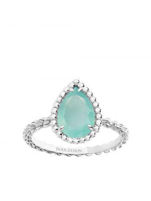 Biały złoty pierścionek Boucheron