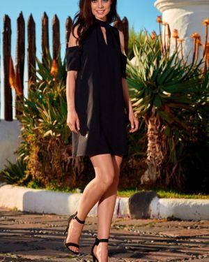 Czarna sukienka na wesele elegancka na komunię Lemoniade