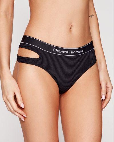 Czarne stringi Chantal Thomass