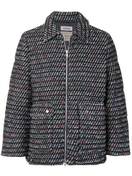 Классическая черная нейлоновая куртка на молнии Coohem