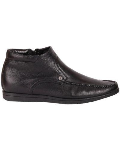Кожаные ботинки осенние черные Gianfranco Butteri