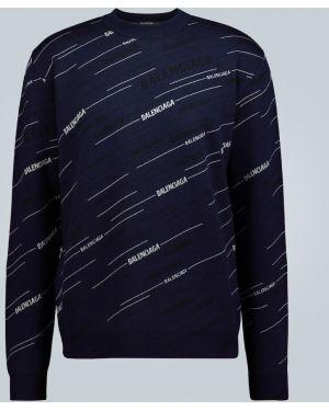 Sweter przeoczenie czarny i biały Balenciaga