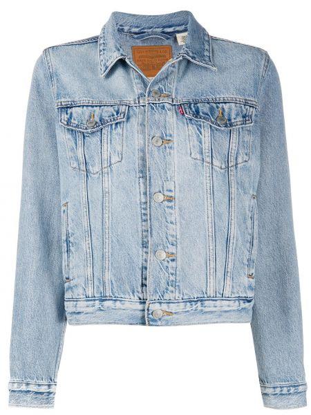 Синяя джинсовая куртка с воротником на пуговицах Levi's®