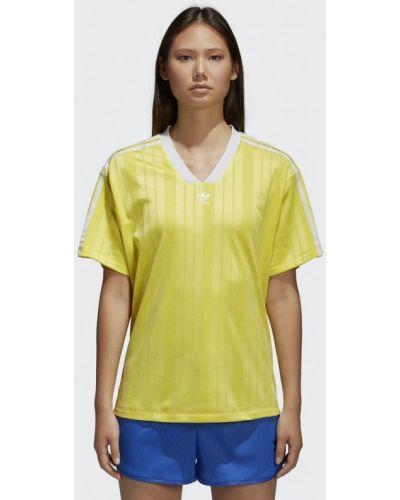 Желтое поло Adidas Originals
