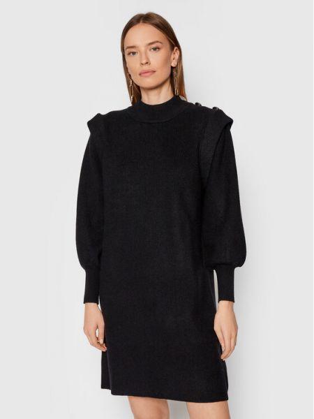 Czarna sukienka dzianinowa Silvian Heach