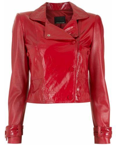 Красная куртка байкерская Andrea Bogosian