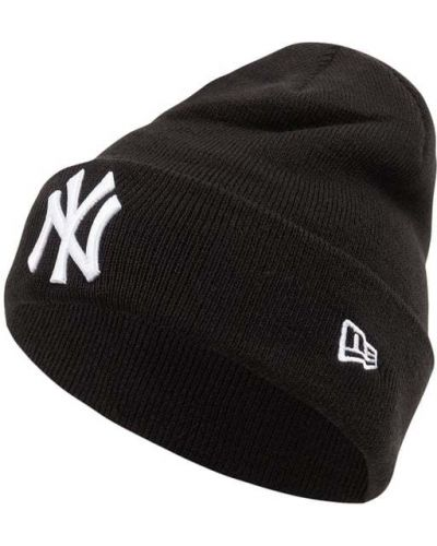 Czarna czapka prążkowana New Era
