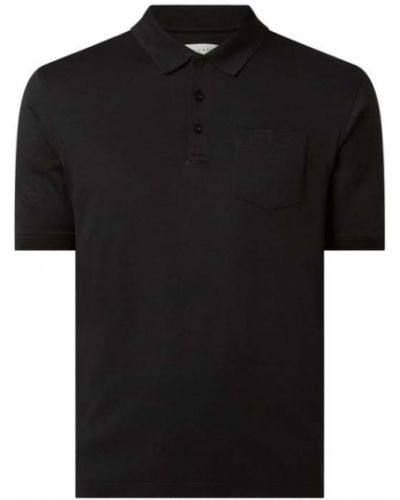 T-shirt bawełniana - czarna Bugatti