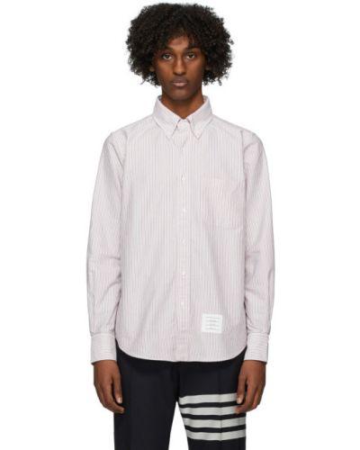Koszula z długim rękawem Oxford z paskami Thom Browne