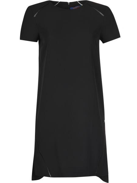 Платье из полиэстера - черное Trussardi Jeans
