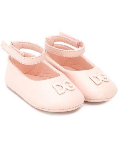 Балетки розовый бежевый Dolce & Gabbana Kids
