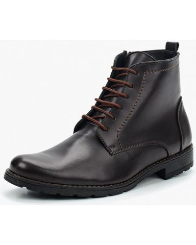 Ботинки осенние кожаные коричневый Bekerandmiller