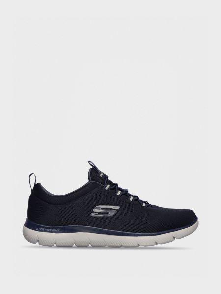 Кожаные кроссовки - синие Skechers