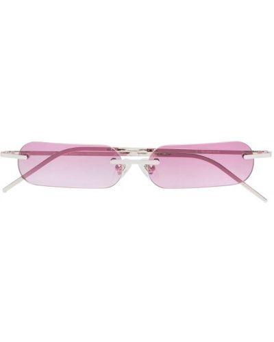 Розовые солнцезащитные очки прямоугольные металлические с завязками Blyszak