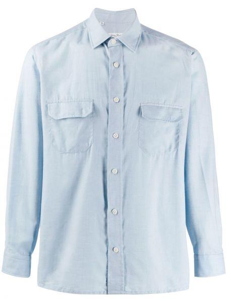 Классическая классическая рубашка с воротником с манжетами с карманами Salvatore Piccolo