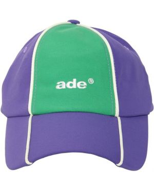 Fioletowy kapelusz z haftem z nylonu Ader Error