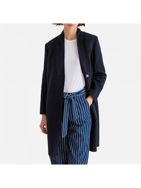 Пальто на кнопках шерстяное La Redoute Collections