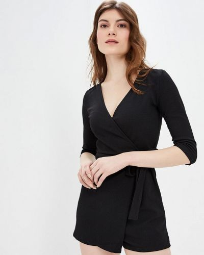 Комбинезон с шортами черный Jennyfer