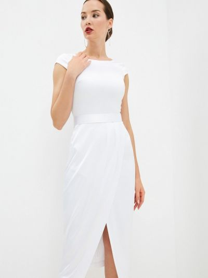 Платье футляр - белое Seam