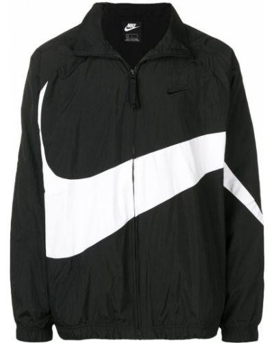 Спортивная куртка черная на молнии Nike