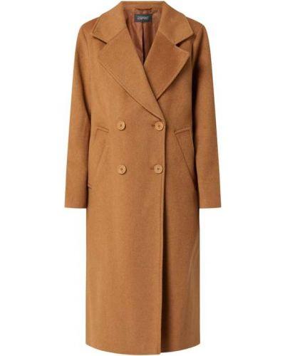 Brązowy płaszcz wełniany Esprit Collection