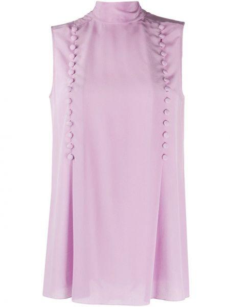 Bluzka bez rękawów jedwabna różowa Givenchy