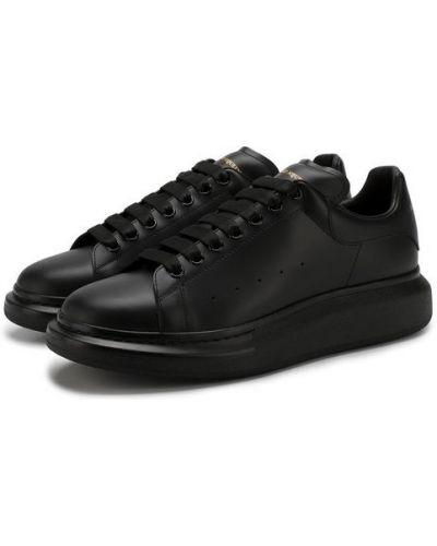 Кеды кожаный на шнуровке Alexander Mcqueen