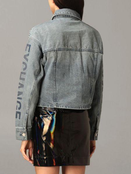 Синяя джинсовая куртка Armani Exchange