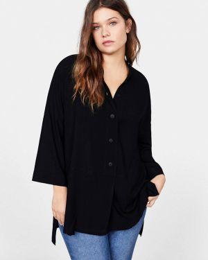 Блузка черная фиолетовый Violeta By Mango