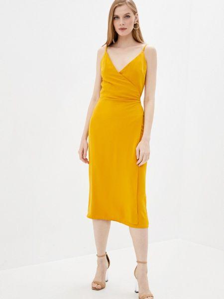 Однобортное желтое платье Imocean