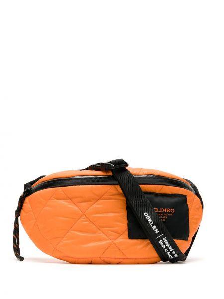 Оранжевая стеганая поясная сумка на молнии Osklen