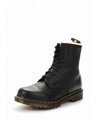 Кожаные ботинки осенние черные Dr Martens