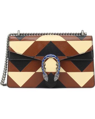 Brązowy skórzana torebka z prawdziwej skóry za pełne Gucci