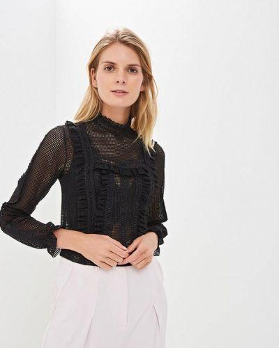 Блузка с длинным рукавом черная Miss Selfridge