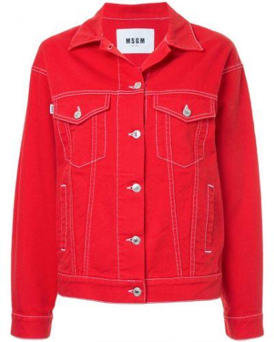 Джинсовая куртка длинная Msgm