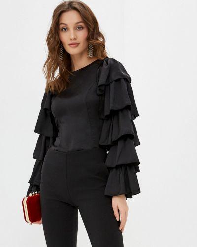 Черная блузка с длинными рукавами Tantra
