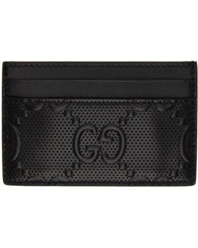 Черная кожаная ключница с подкладкой Gucci