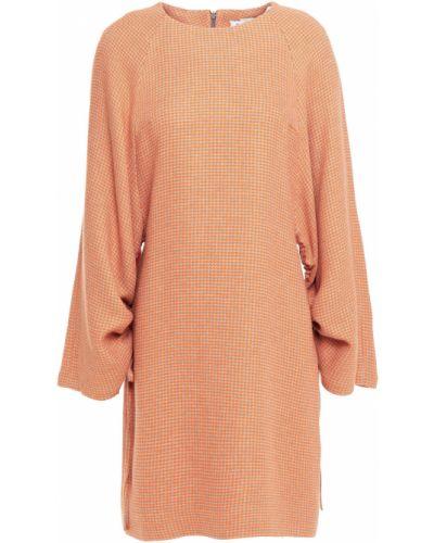 Pomarańczowa sukienka mini z wiskozy Rodebjer