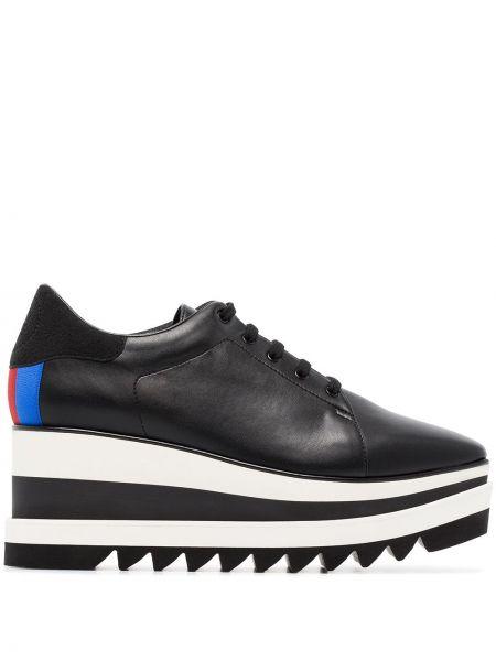 Sneakersy na platformie czarne niebieski Stella Mccartney