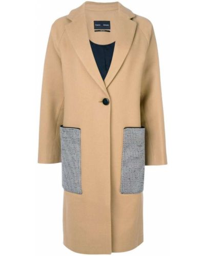 Длинное пальто на кнопках шерстяное Proenza Schouler