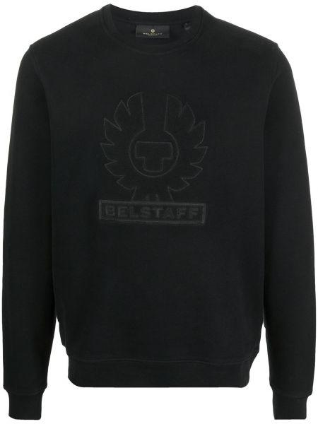 Bawełna z rękawami czarny bluza z haftem Belstaff