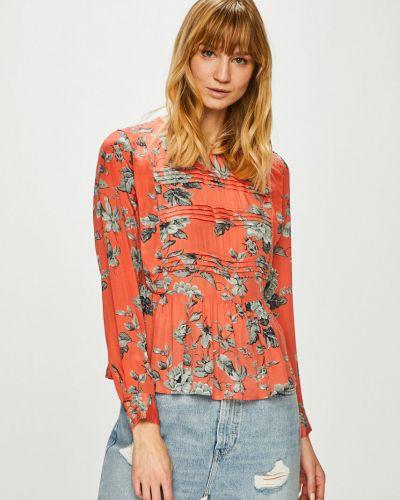 Блузка с кокеткой из вискозы Pepe Jeans