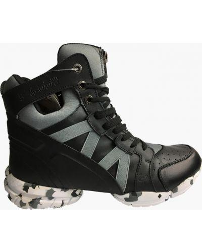 Кожаные кроссовки - черные Freddy